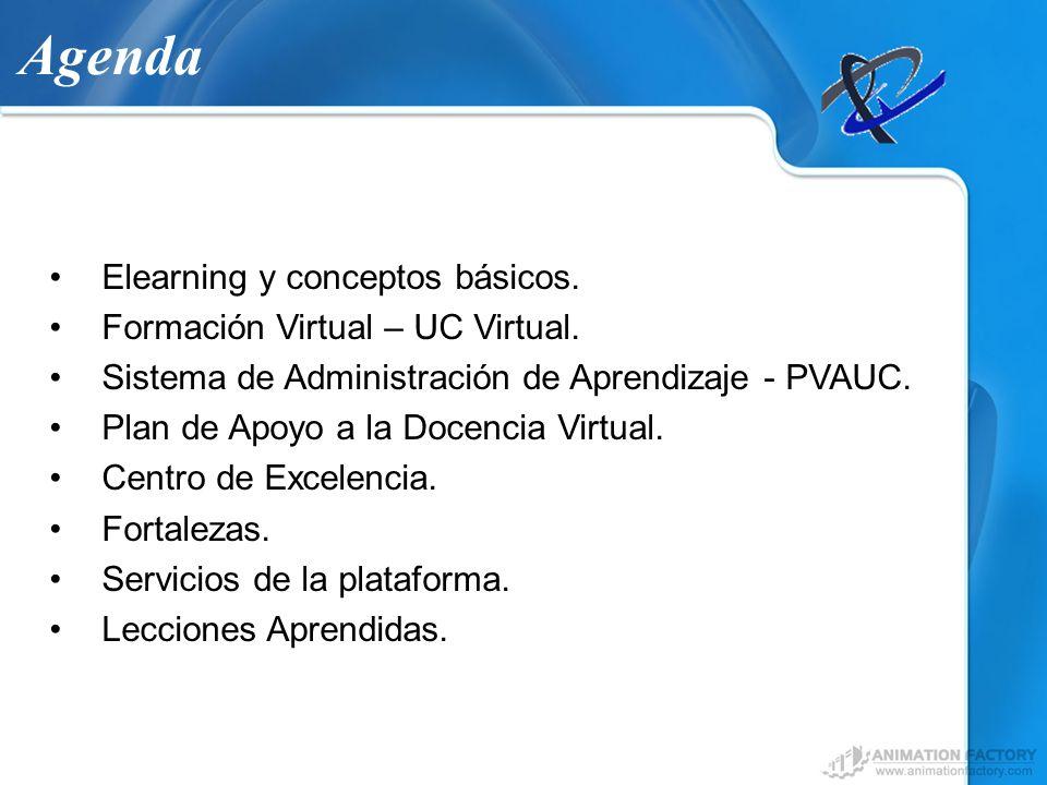 Agenda Elearning y conceptos básicos. Formación Virtual – UC Virtual.