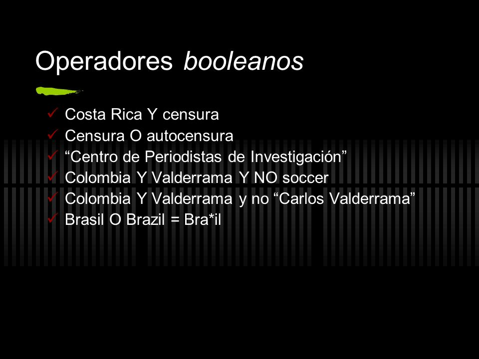 Operadores booleanos Costa Rica Y censura Censura O autocensura
