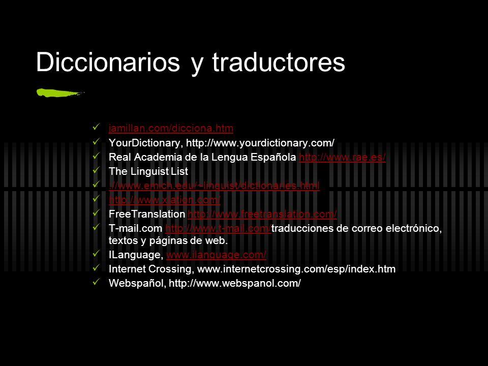 Diccionarios y traductores