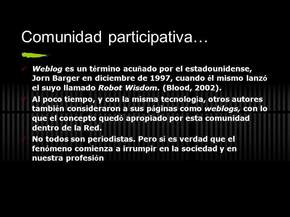 Comunidad participativa…