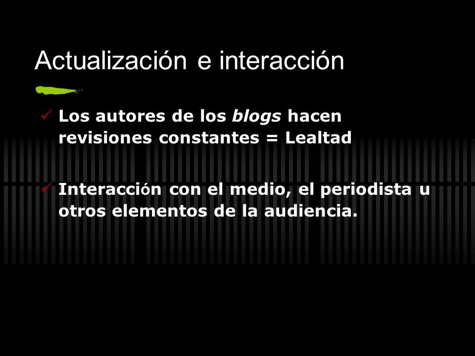 Actualización e interacción