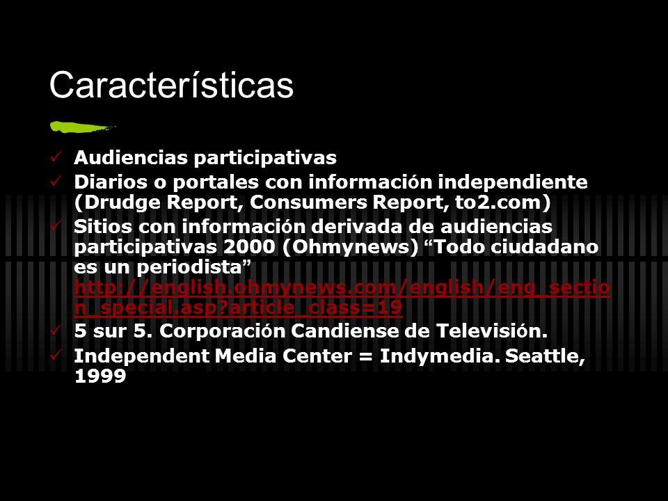 Características Audiencias participativas