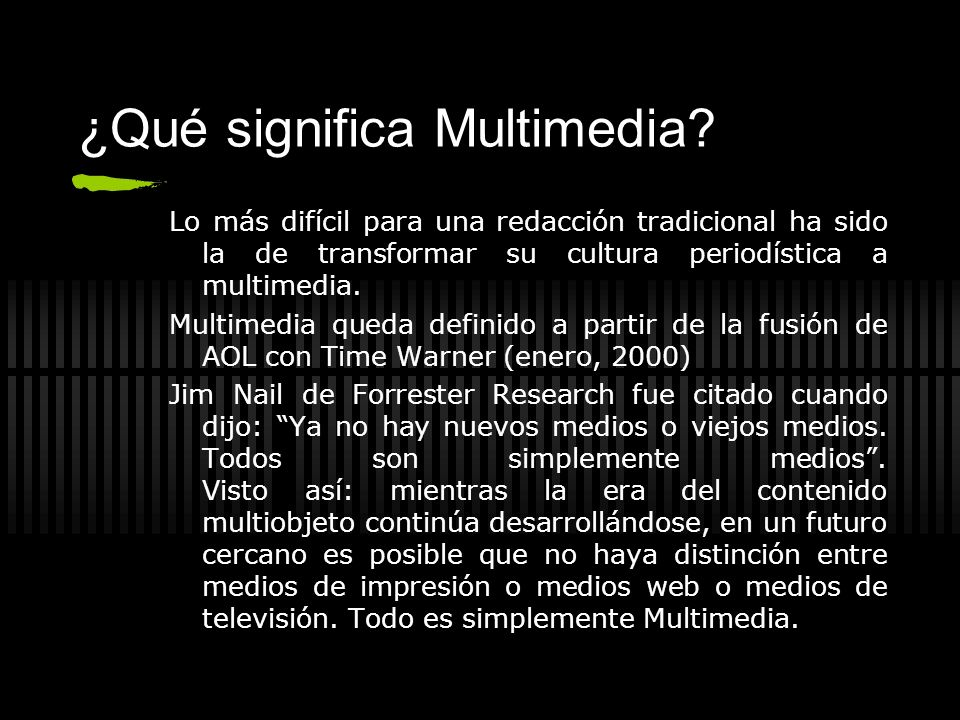 ¿Qué significa Multimedia