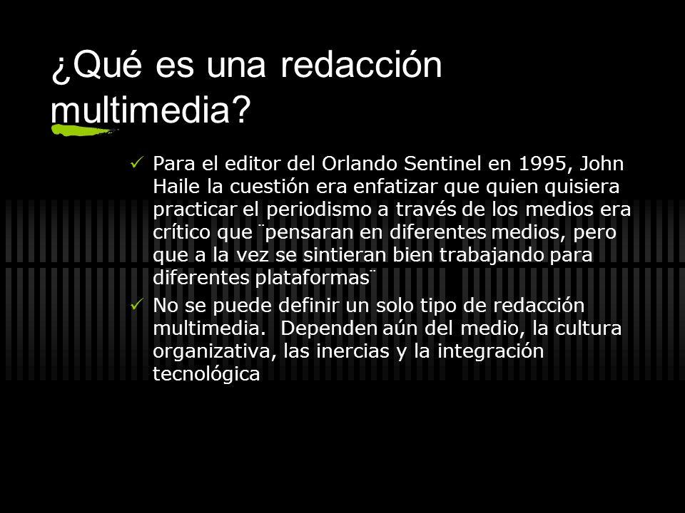¿Qué es una redacción multimedia