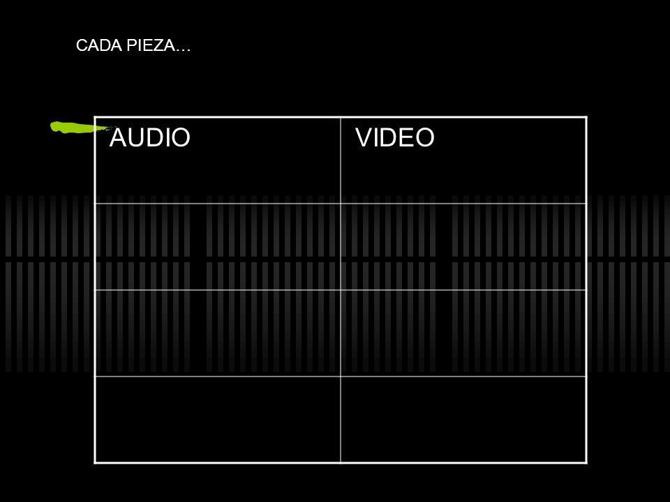CADA PIEZA… AUDIO VIDEO