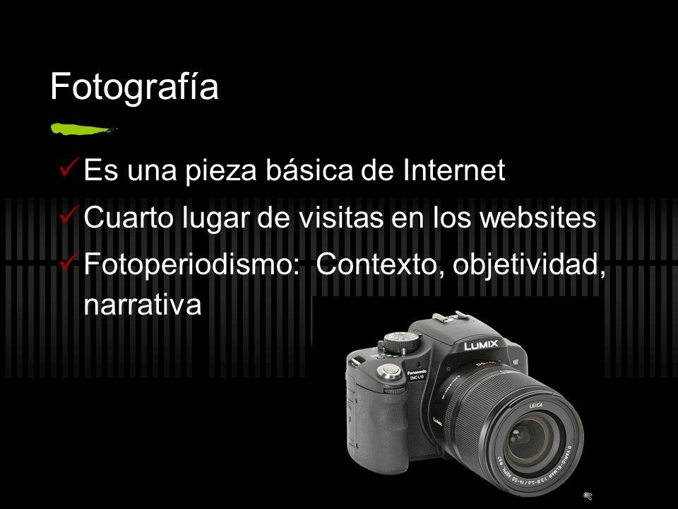 Fotografía Es una pieza básica de Internet