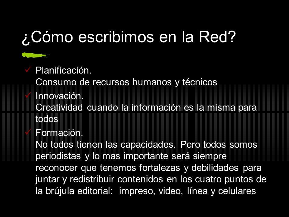 ¿Cómo escribimos en la Red