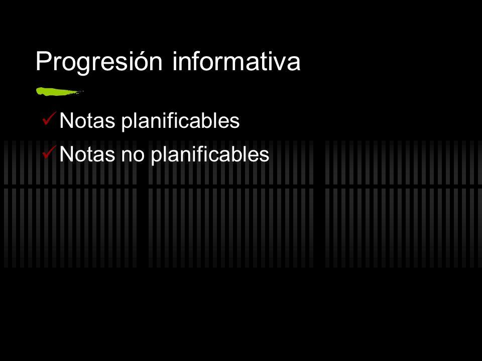 Progresión informativa