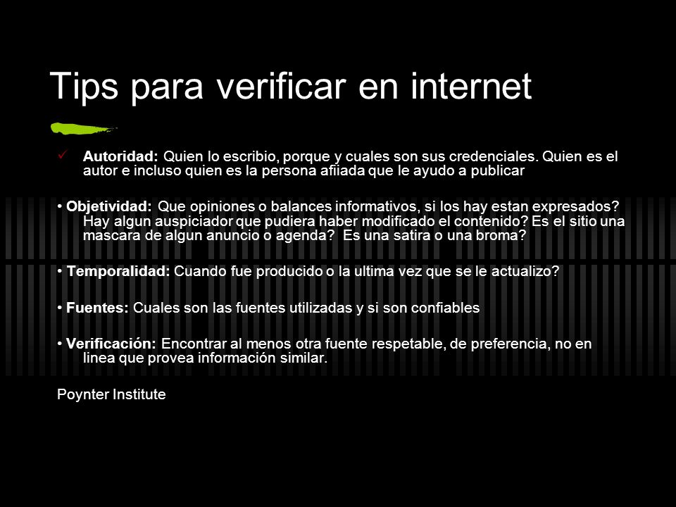 Tips para verificar en internet