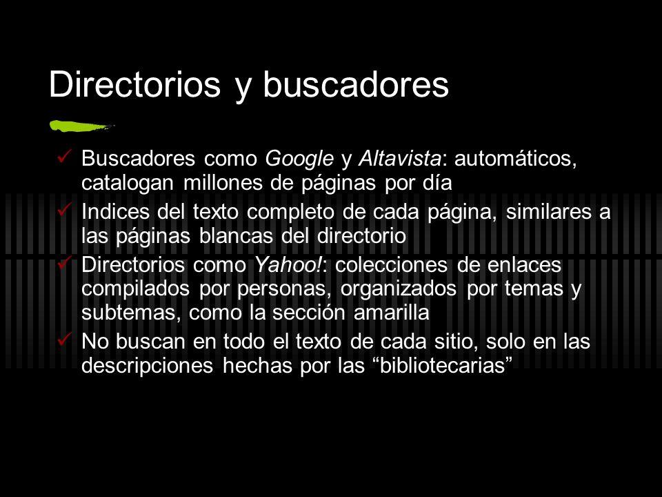 Directorios y buscadores
