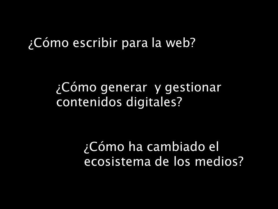 ¿Cómo escribir para la web