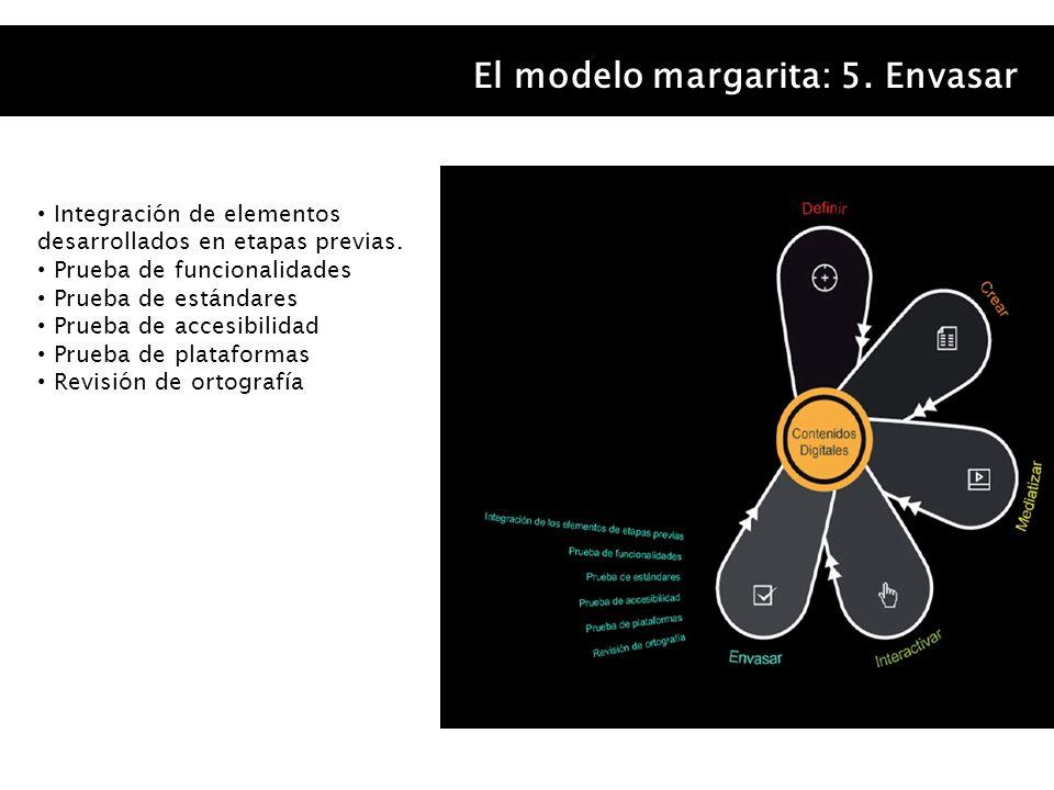 El modelo margarita: 5. Envasar