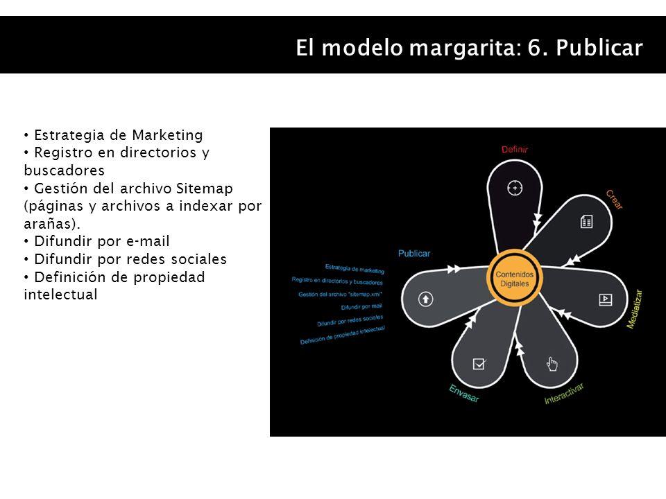 El modelo margarita: 6. Publicar