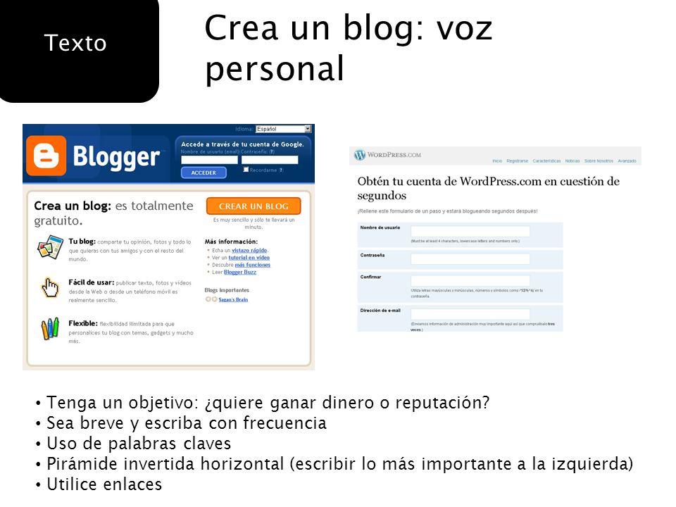 Crea un blog: voz personal