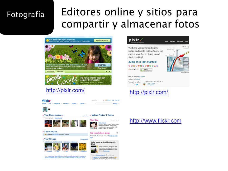 Editores online y sitios para compartir y almacenar fotos