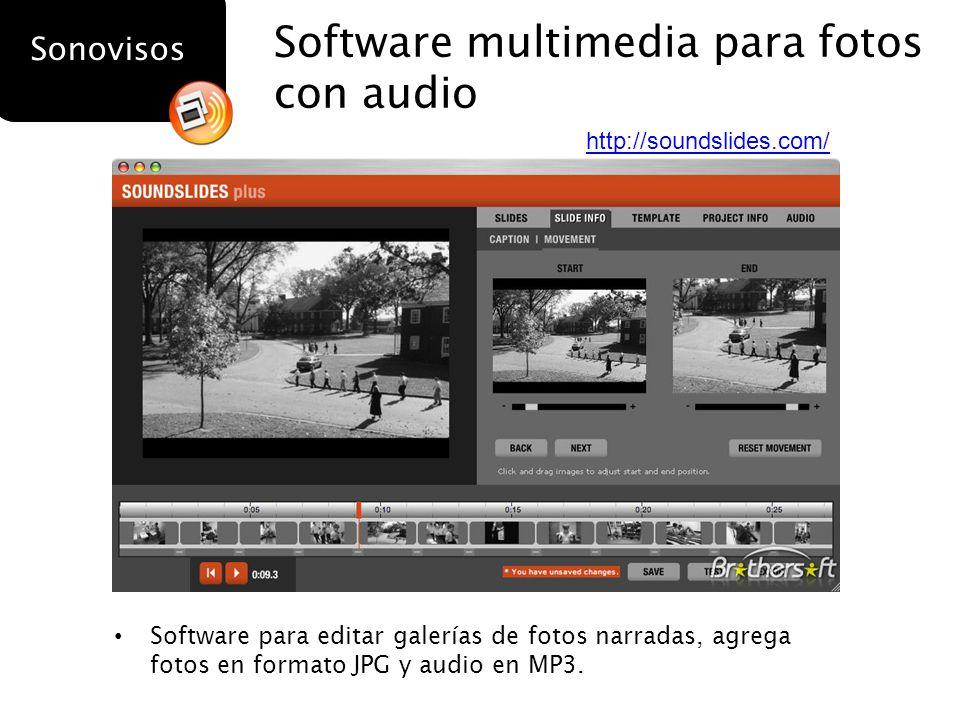 Software multimedia para fotos con audio