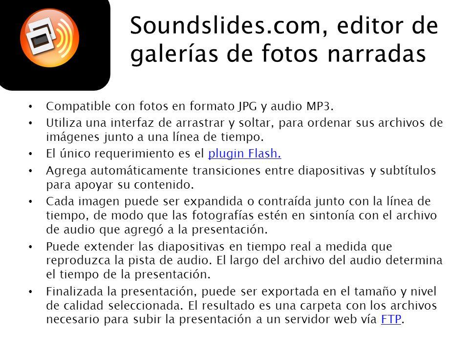 Soundslides.com, editor de galerías de fotos narradas