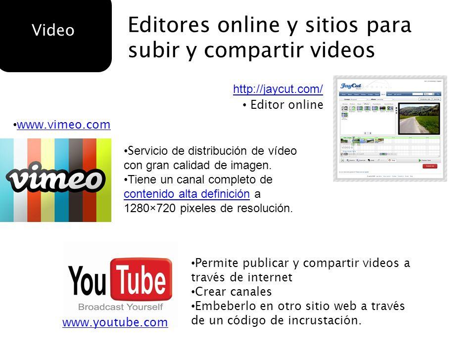 Editores online y sitios para subir y compartir videos