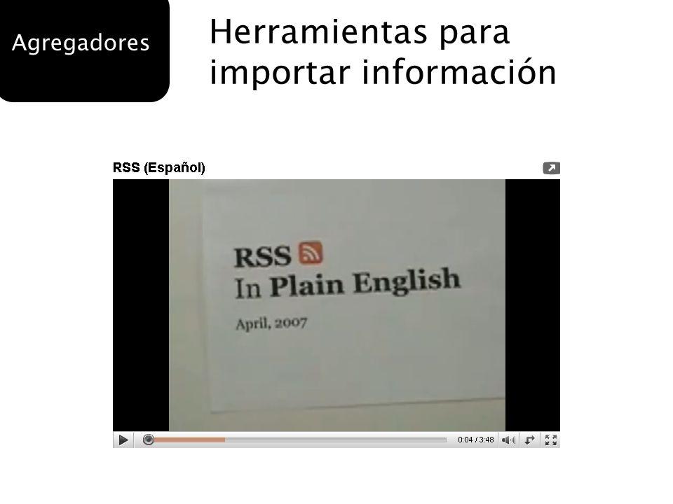 Herramientas para importar información