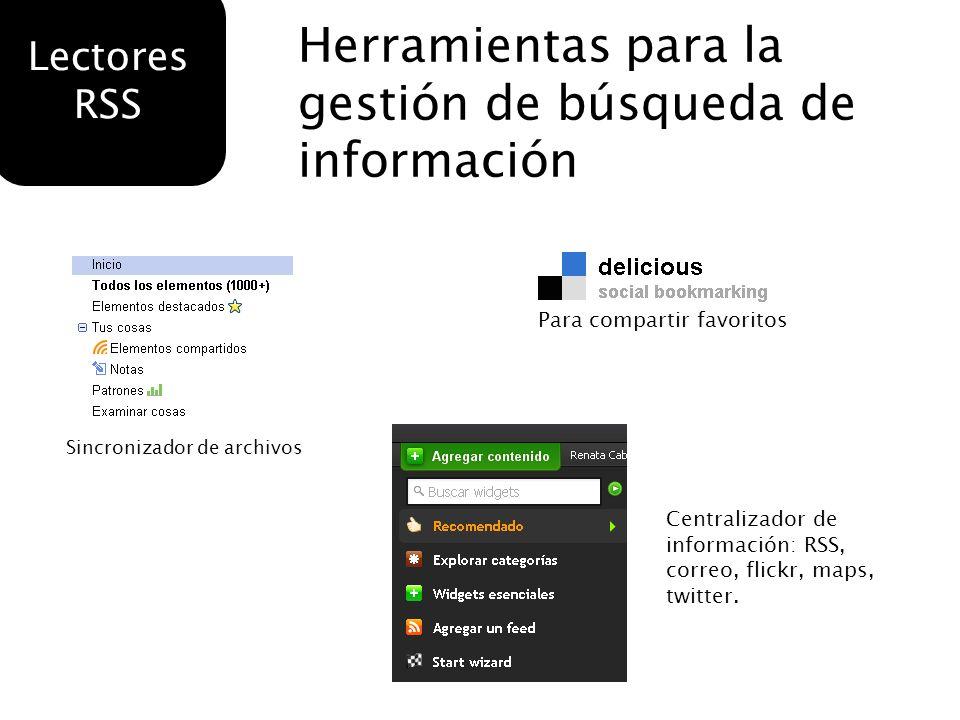Herramientas para la gestión de búsqueda de información