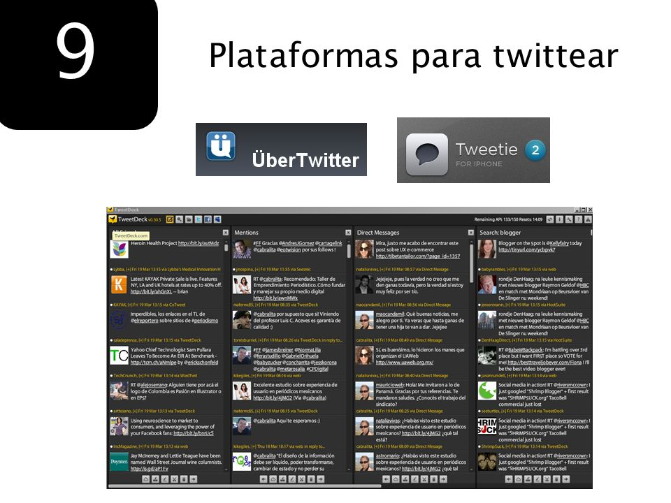 9 Plataformas para twittear