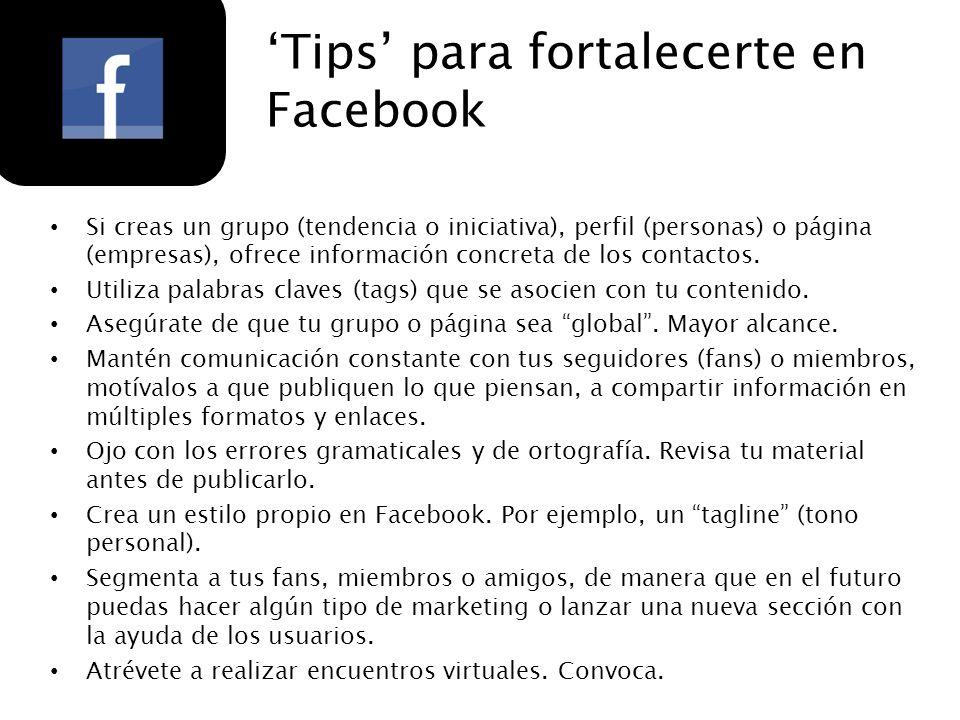 'Tips' para fortalecerte en Facebook