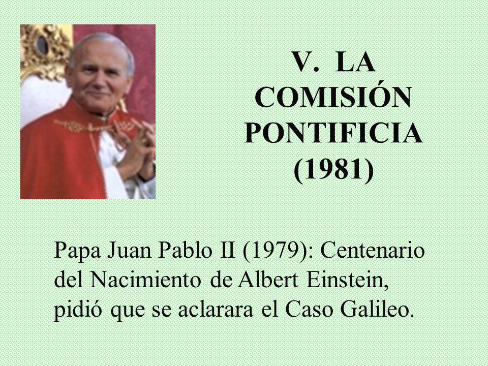 V. LA COMISIÓN PONTIFICIA (1981)