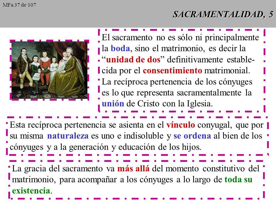 El sacramento no es sólo ni principalmente