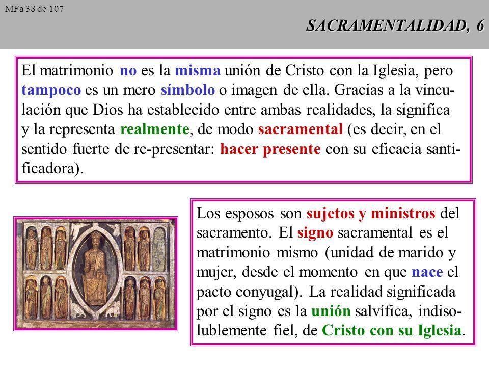 El matrimonio no es la misma unión de Cristo con la Iglesia, pero