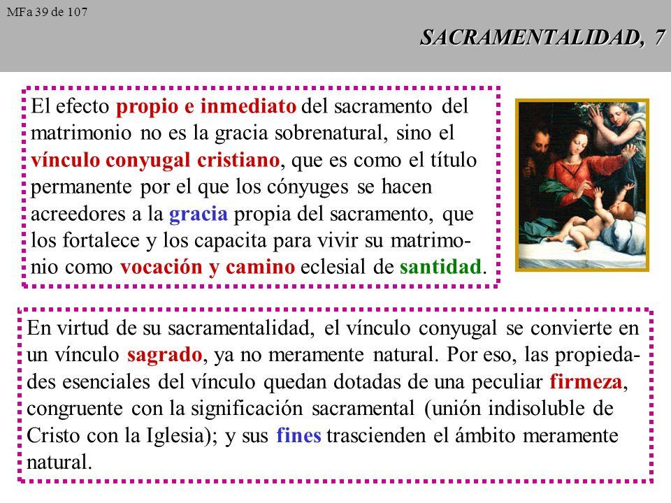 El efecto propio e inmediato del sacramento del