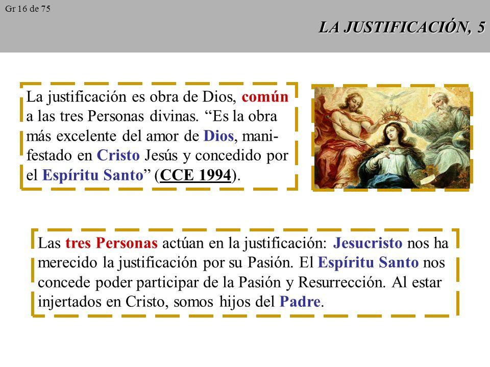 La justificación es obra de Dios, común