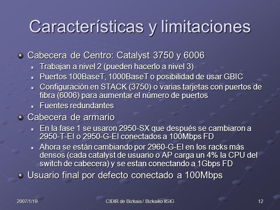 Características y limitaciones