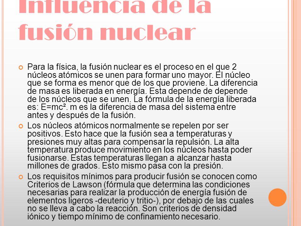 Influencia de la fusión nuclear