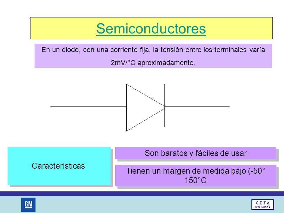 Semiconductores Son baratos y fáciles de usar Características