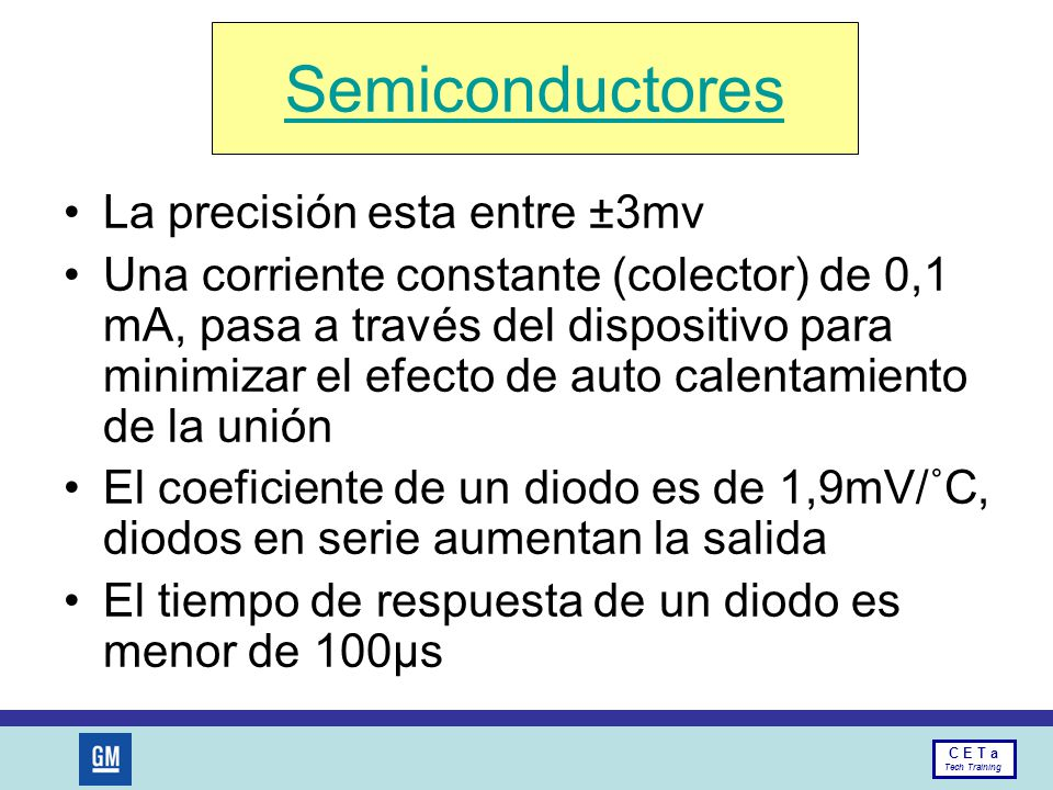 Semiconductores La precisión esta entre ±3mv