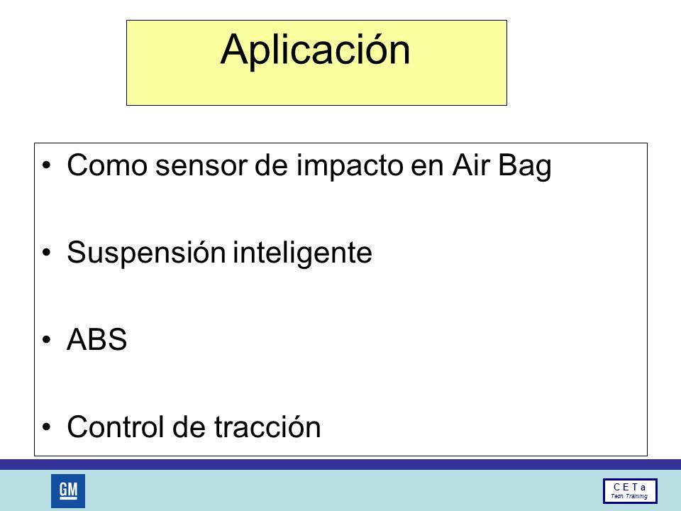 Aplicación Como sensor de impacto en Air Bag Suspensión inteligente