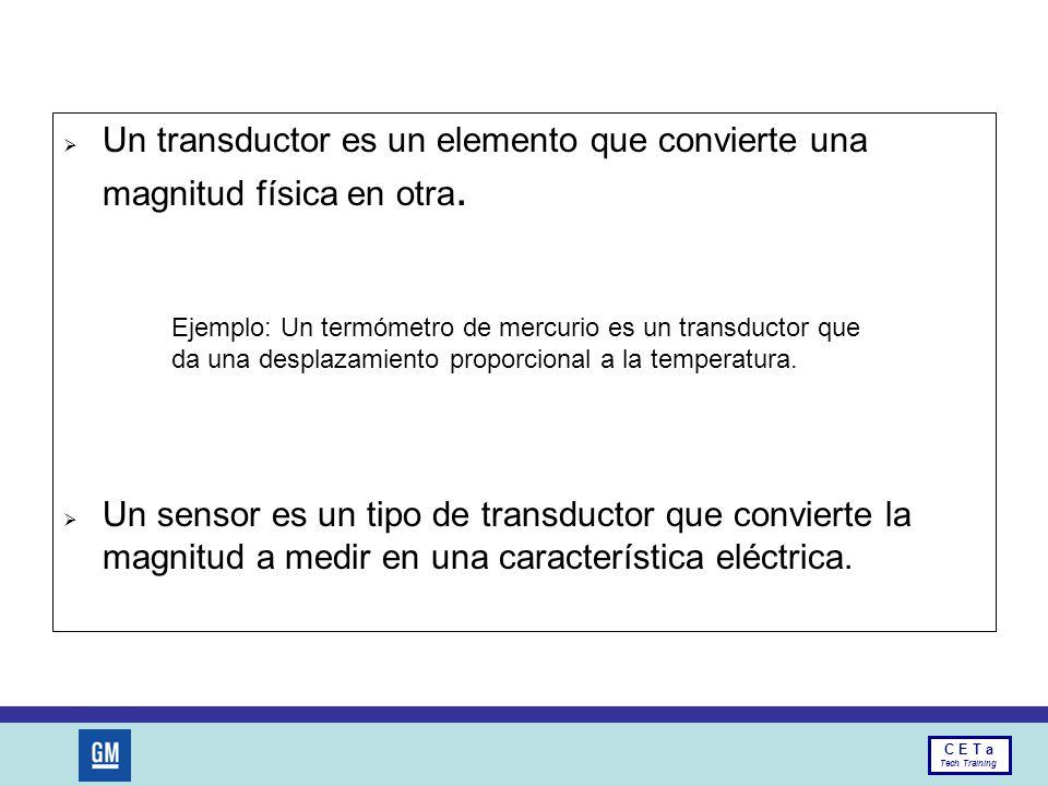 Un transductor es un elemento que convierte una magnitud física en otra.