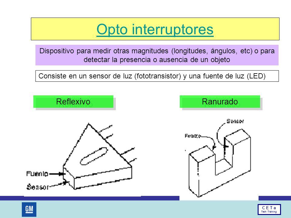 Opto interruptores Reflexivo Ranurado