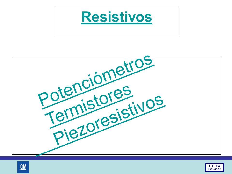 Resistivos Potenciómetros Termistores Piezoresistivos