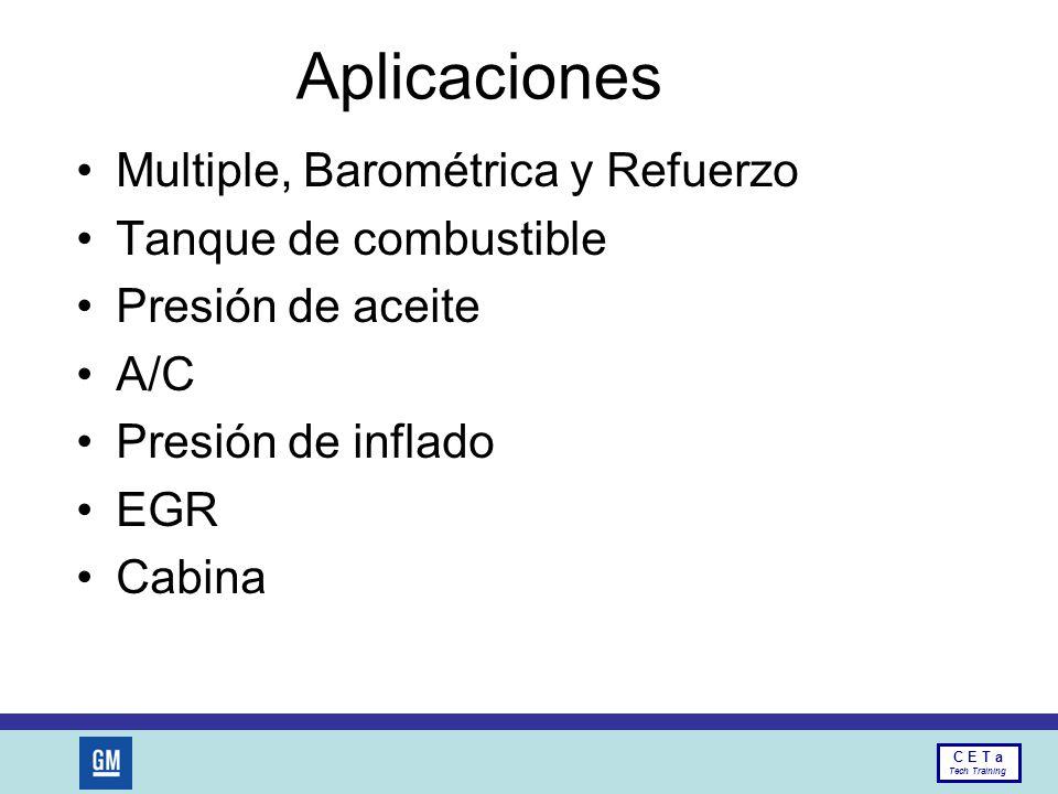Aplicaciones Multiple, Barométrica y Refuerzo Tanque de combustible