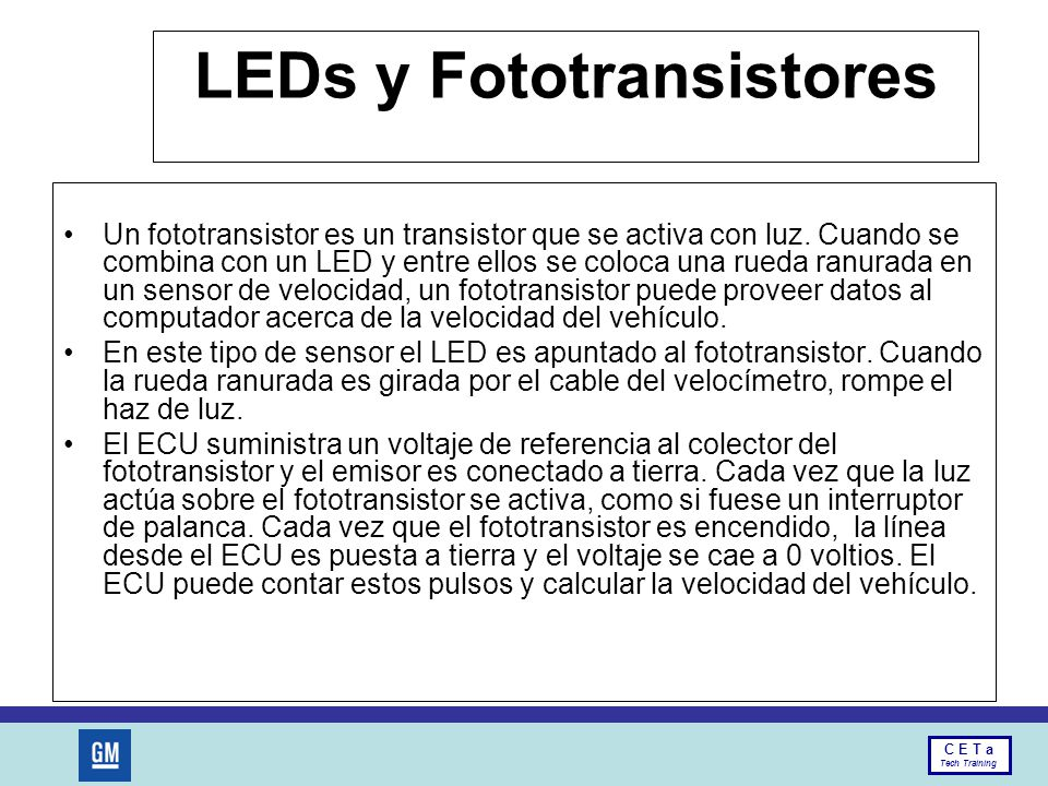 LEDs y Fototransistores