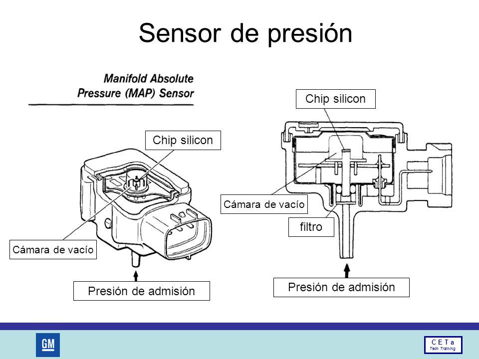 Sensor de presión Chip silicon Chip silicon filtro Presión de admisión