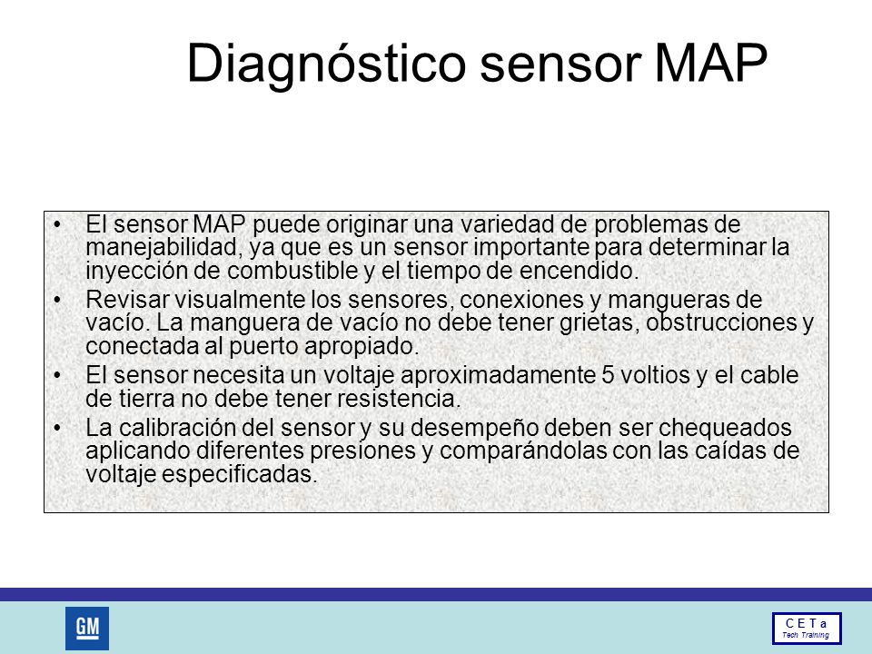 Diagnóstico sensor MAP