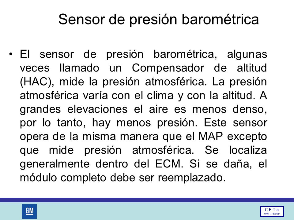 Sensor de presión barométrica