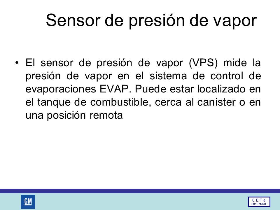 Sensor de presión de vapor