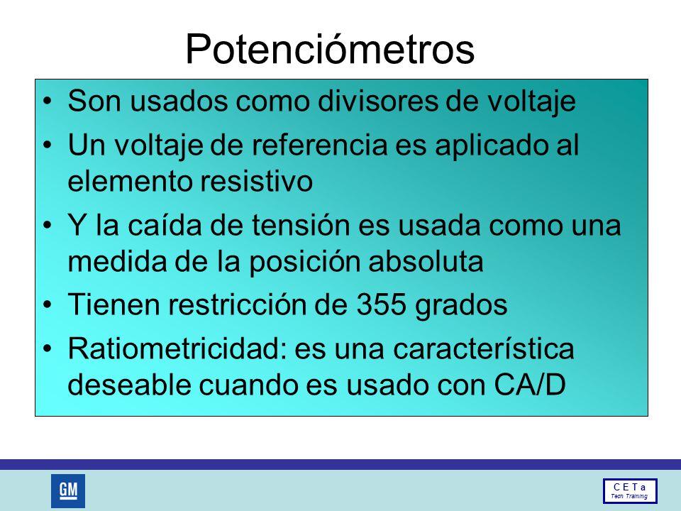 Potenciómetros Son usados como divisores de voltaje