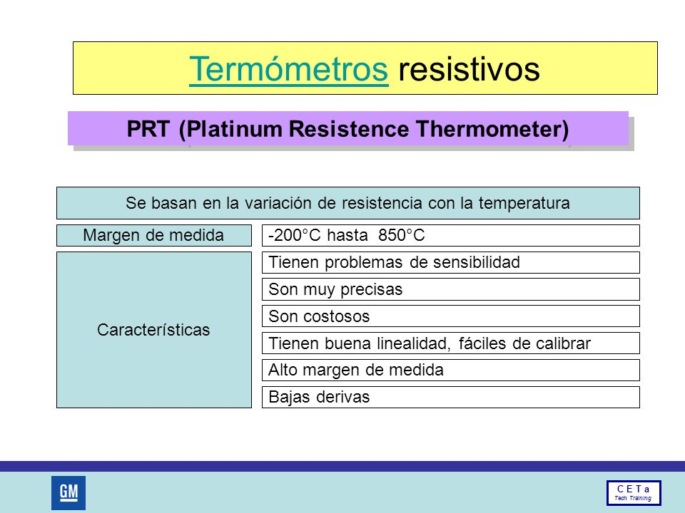 PRT (Platinum Resistence Thermometer)