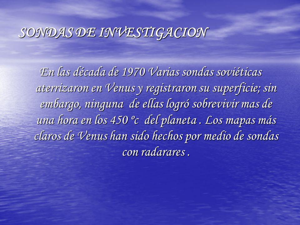 SONDAS DE INVESTIGACION