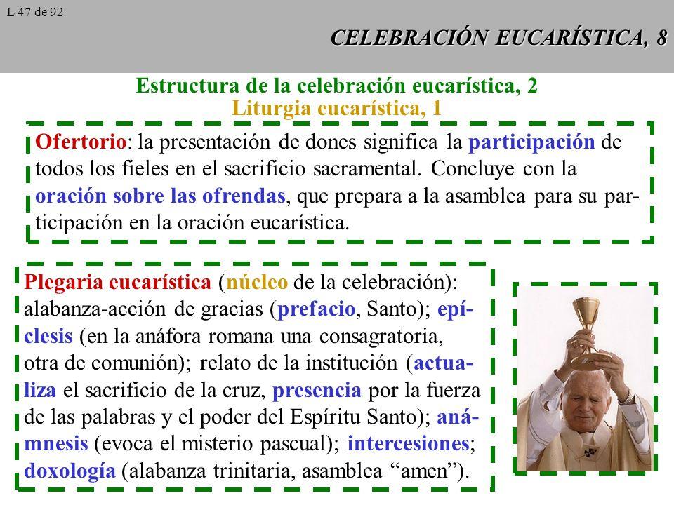 CELEBRACIÓN EUCARÍSTICA, 8