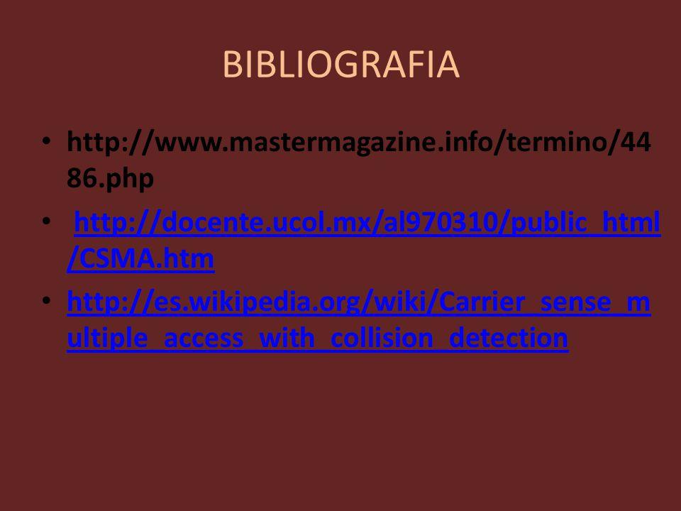 BIBLIOGRAFIA http://www.mastermagazine.info/termino/4486.php